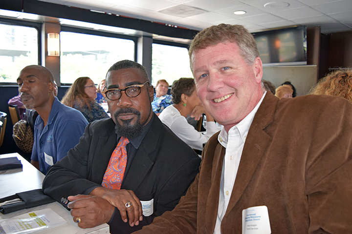 Kevin Mason, program director of My Brother's Keeper with Director of Family Services, Kevin Keegan.