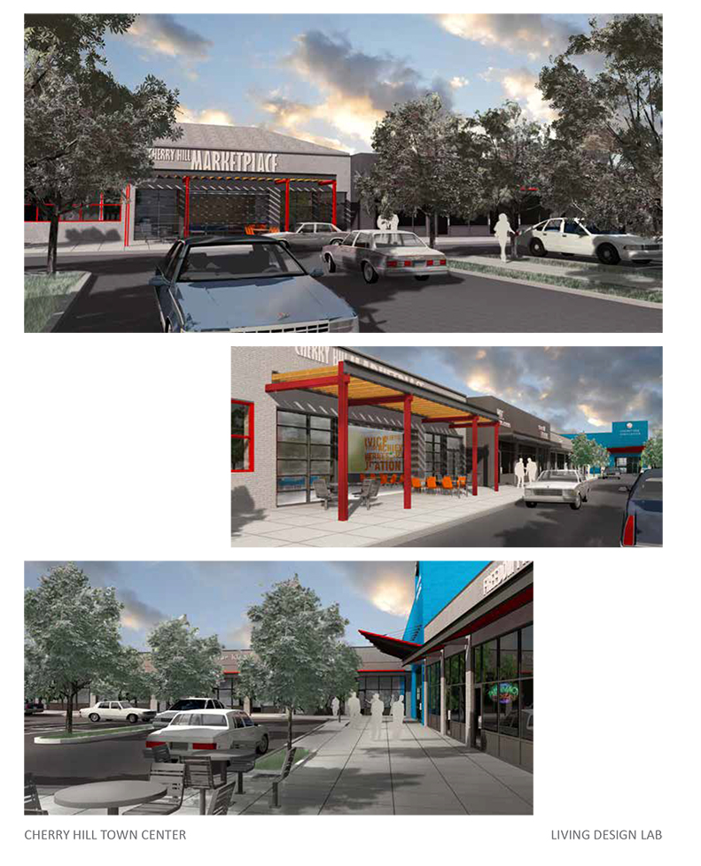 A rendering of plans for the Cherry Hill Town Center renovation